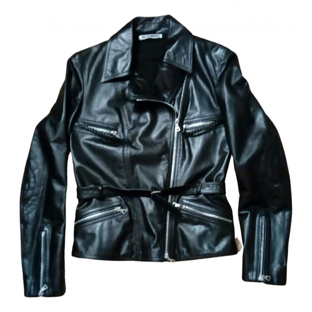 Jil Sander N Black Leather jacket for Women 36 FR