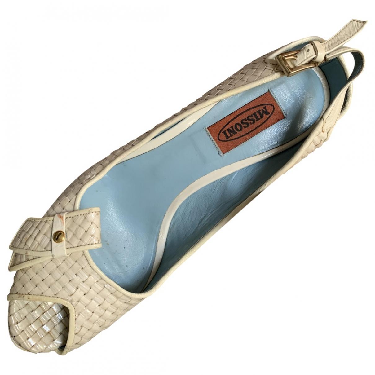 Missoni - Escarpins   pour femme en cuir - beige
