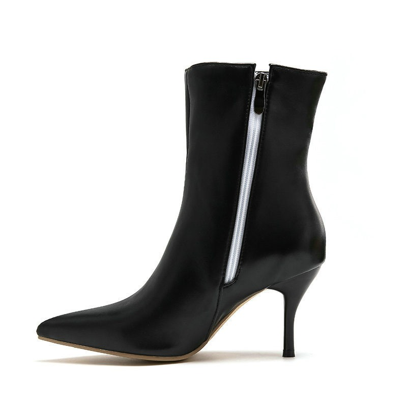 Ericdress Pointed Toe Color Block Side Zipper Casual Boots