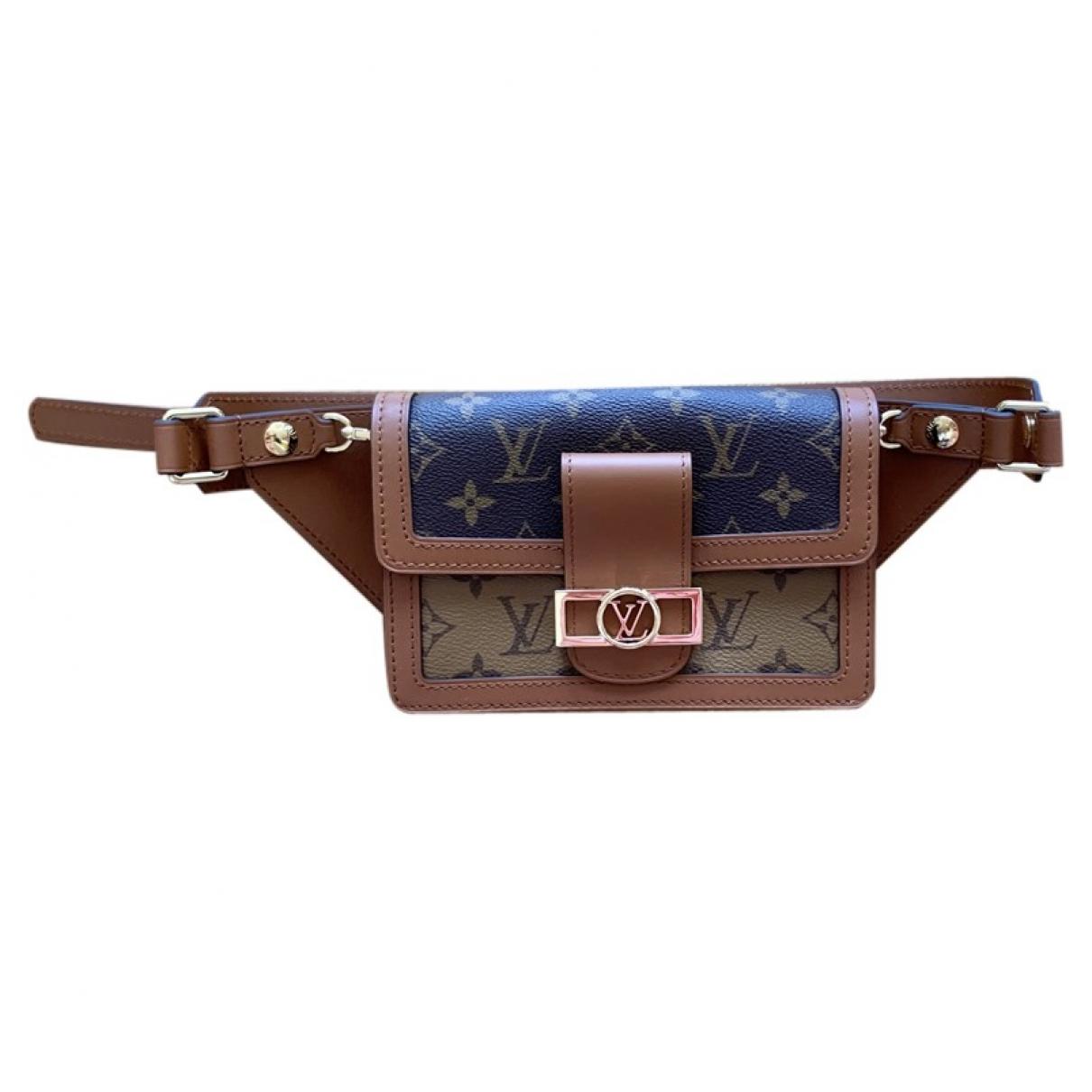 Louis Vuitton Dauphine Belt Bag Brown Cloth Clutch bag for Women \N