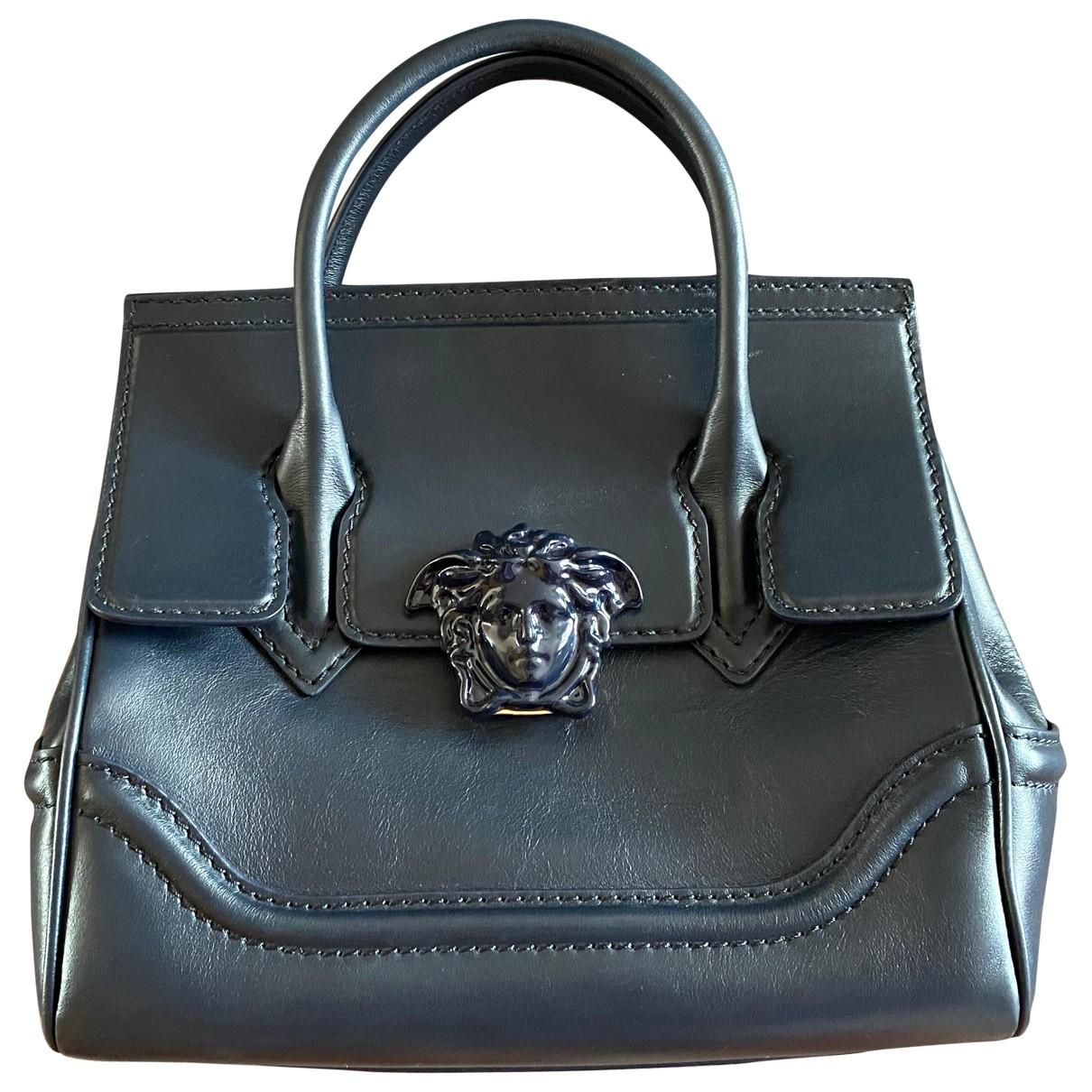 Versace Palazzo Empire Navy Leather handbag for Women \N