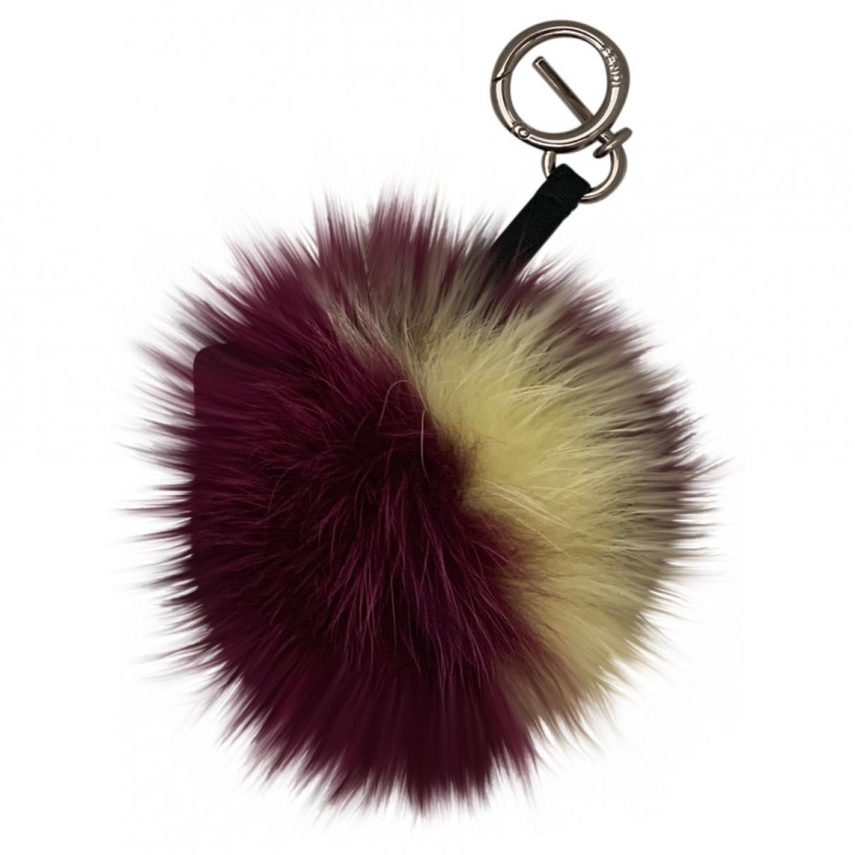 Fendi - Bijoux de sac Pompon pour femme en renard - multicolore