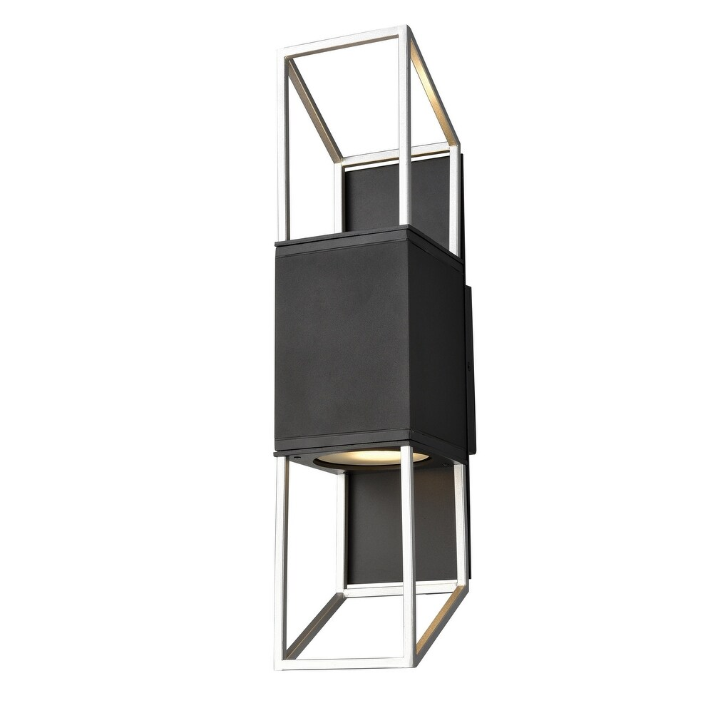 DVI  DVP41972BK SS Two Light  Wall Sconce Ionic  BlackStainless Steel - One Size (One Size - Clear)