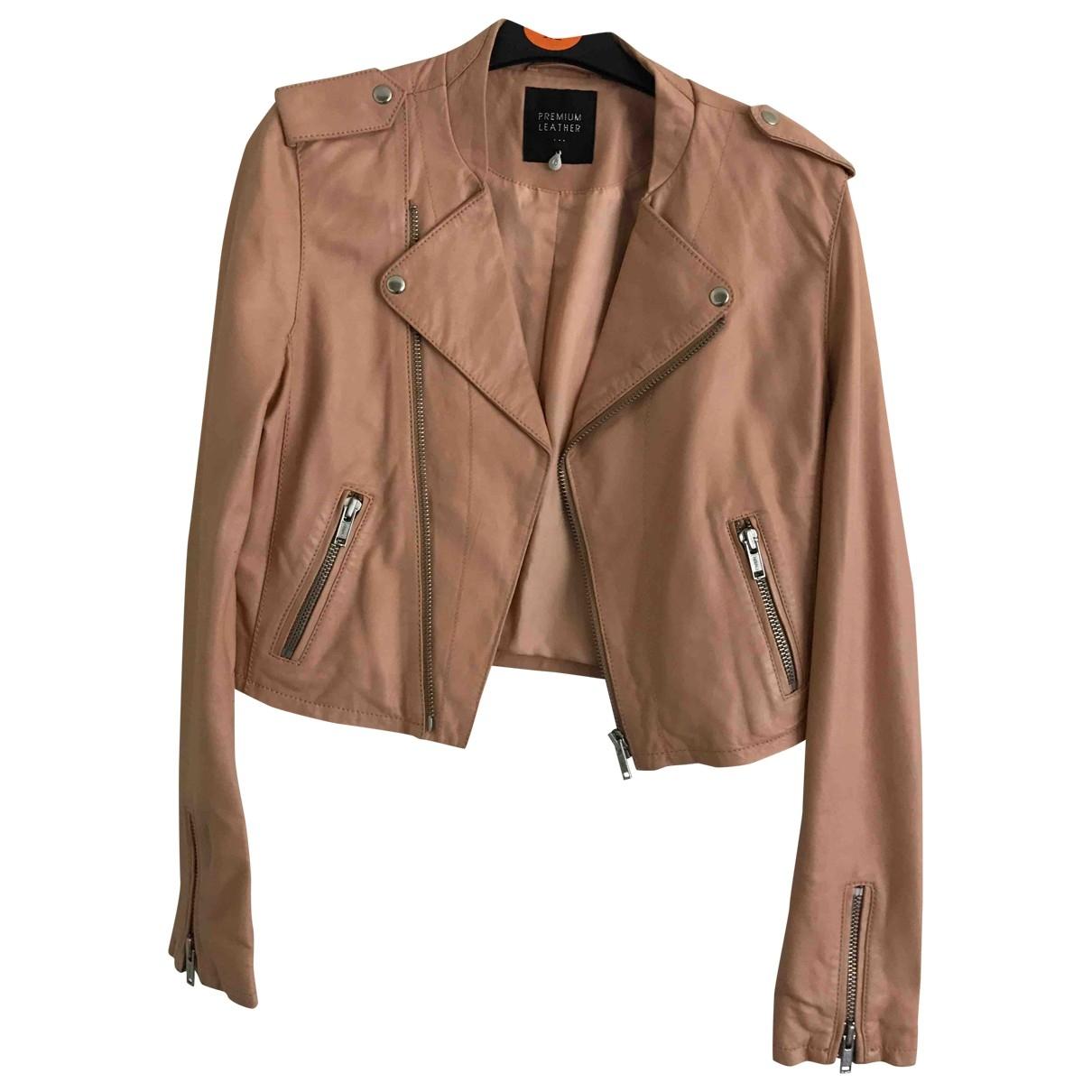 - Veste   pour femme en cuir - rose