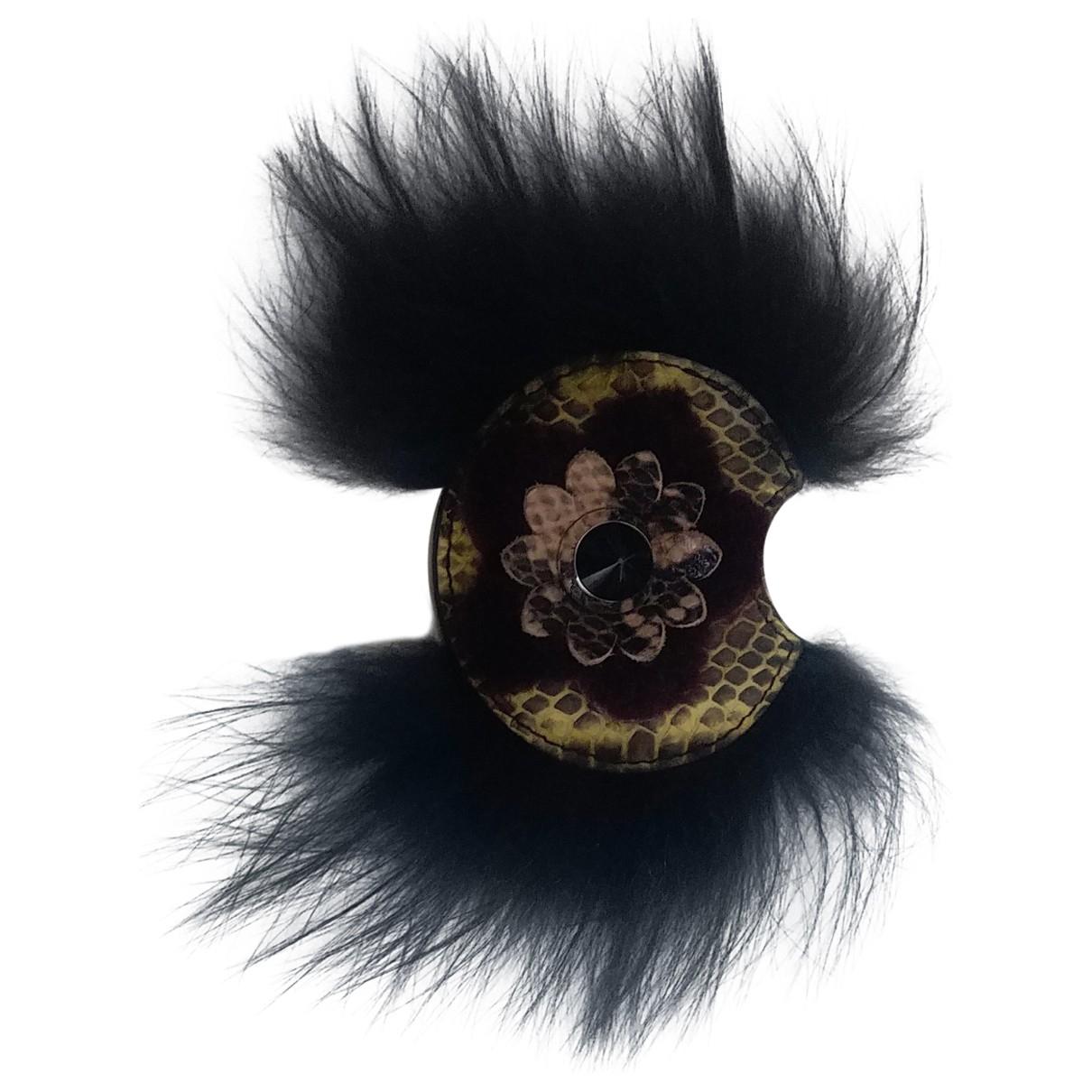 Fendi \N Taschenschmuck in  Schwarz Leder