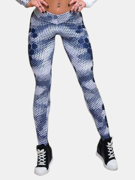Yoins Active Quick Drying Elastic Leggings in Blue
