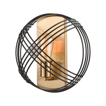 11190/1 Concentric 1-Light Sconce in Oil Rubbed Bronze with Clear Crystal
