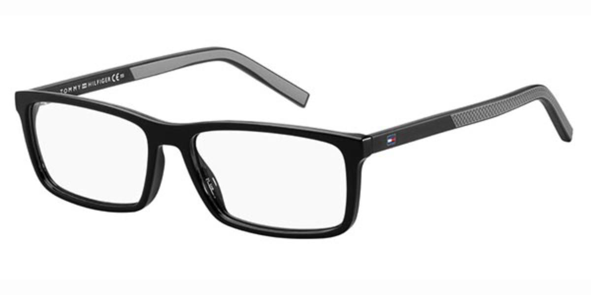 Tommy Hilfiger TH 1591 807 Men's Glasses Black Size 53 - Free Lenses - HSA/FSA Insurance - Blue Light Block Available