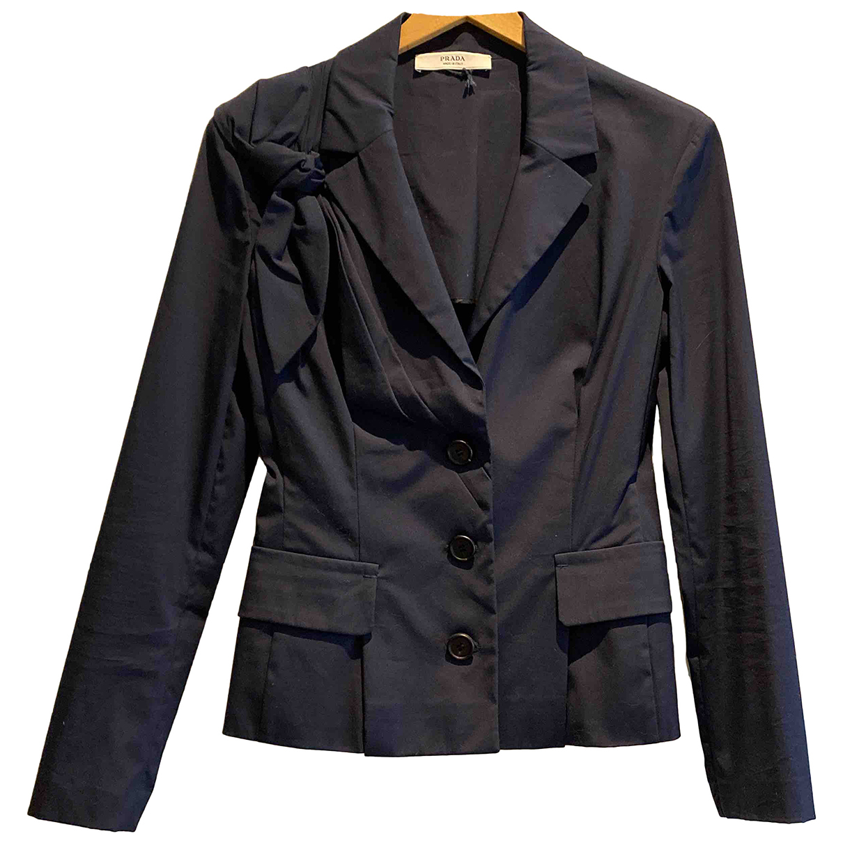 Prada N Navy Cotton jacket for Women 42 IT