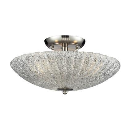10271/3 3- Light Semi-Flush in Satin