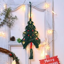 Woven Christmas Tree Wall Hanging