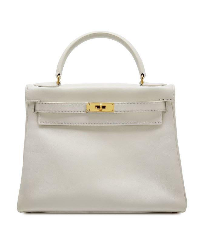 HermEs White Gulliver 28cm Kelly Bag