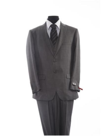 Mens Two Button 2 Piece Grey Suit