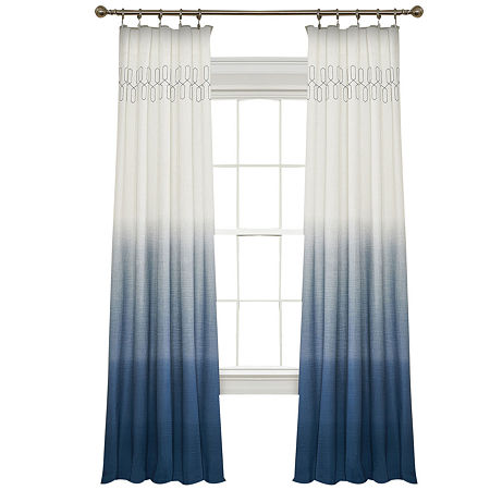 Vue Vue Signature Arashi Fashion Light-Filtering Rod-Pocket Single Curtain Panel, One Size , Purple