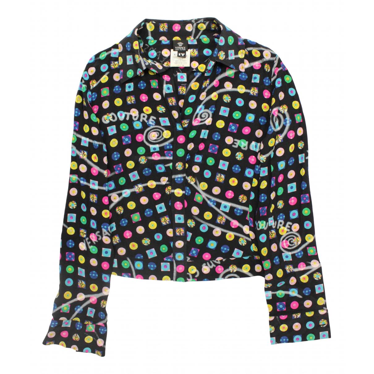 Versace Jean - Top   pour femme en soie - noir