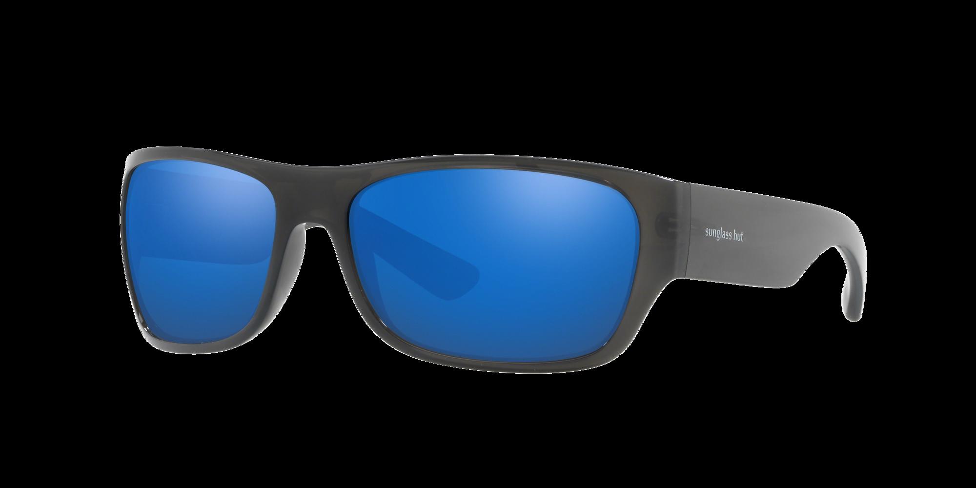 Coleccion Sunglass Hut Unisex  HU2013 -  Frame color: Gris, Lens color: Azul, Size 63-17/130