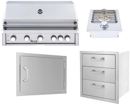 4 Piece  Outdoor Kitchen Equipment Package with HTGR405LP 40