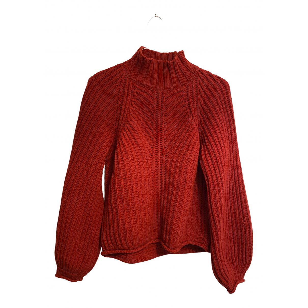 Stine Goya - Pull   pour femme en laine - rouge