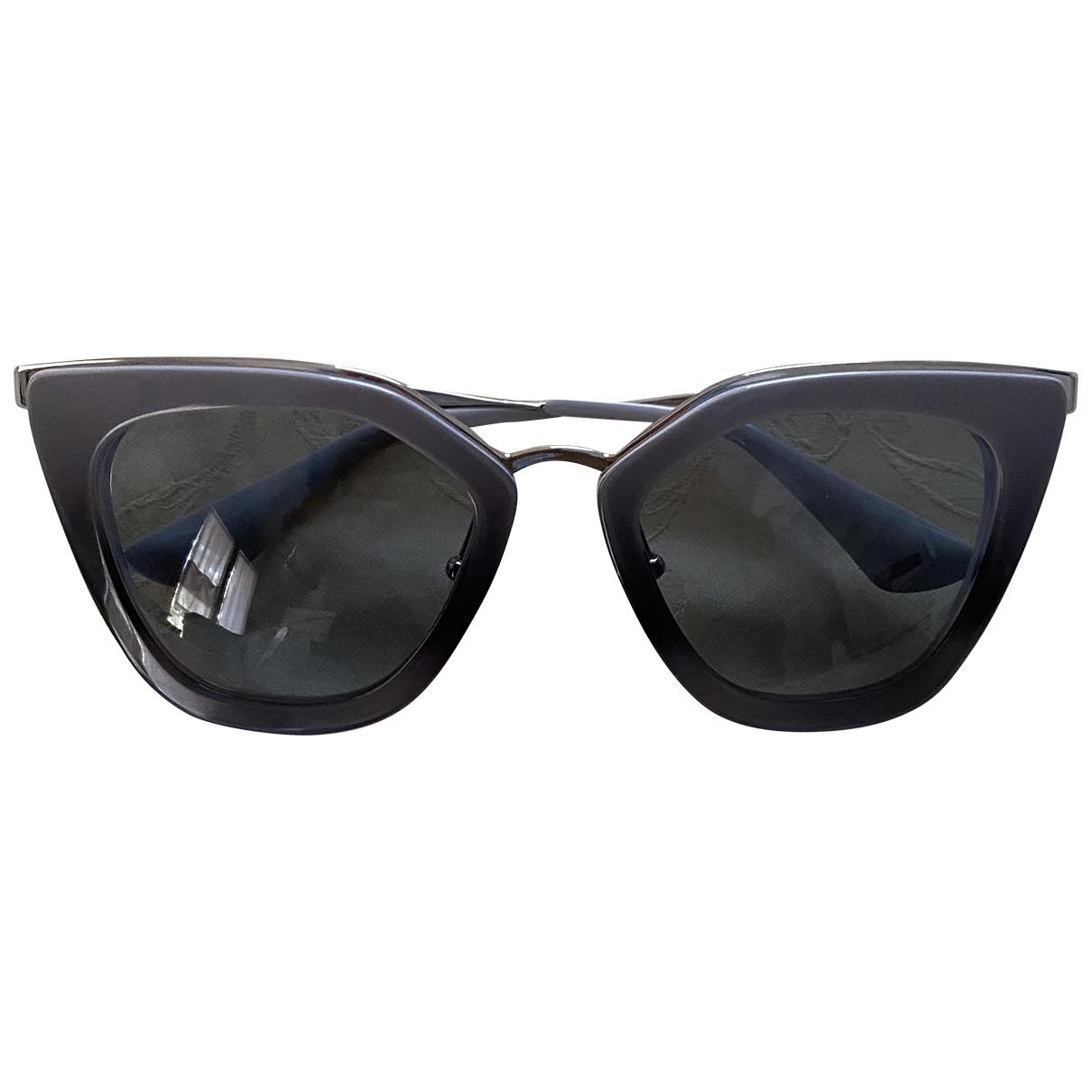 Prada \N Sonnenbrillen in  Grau Kunststoff