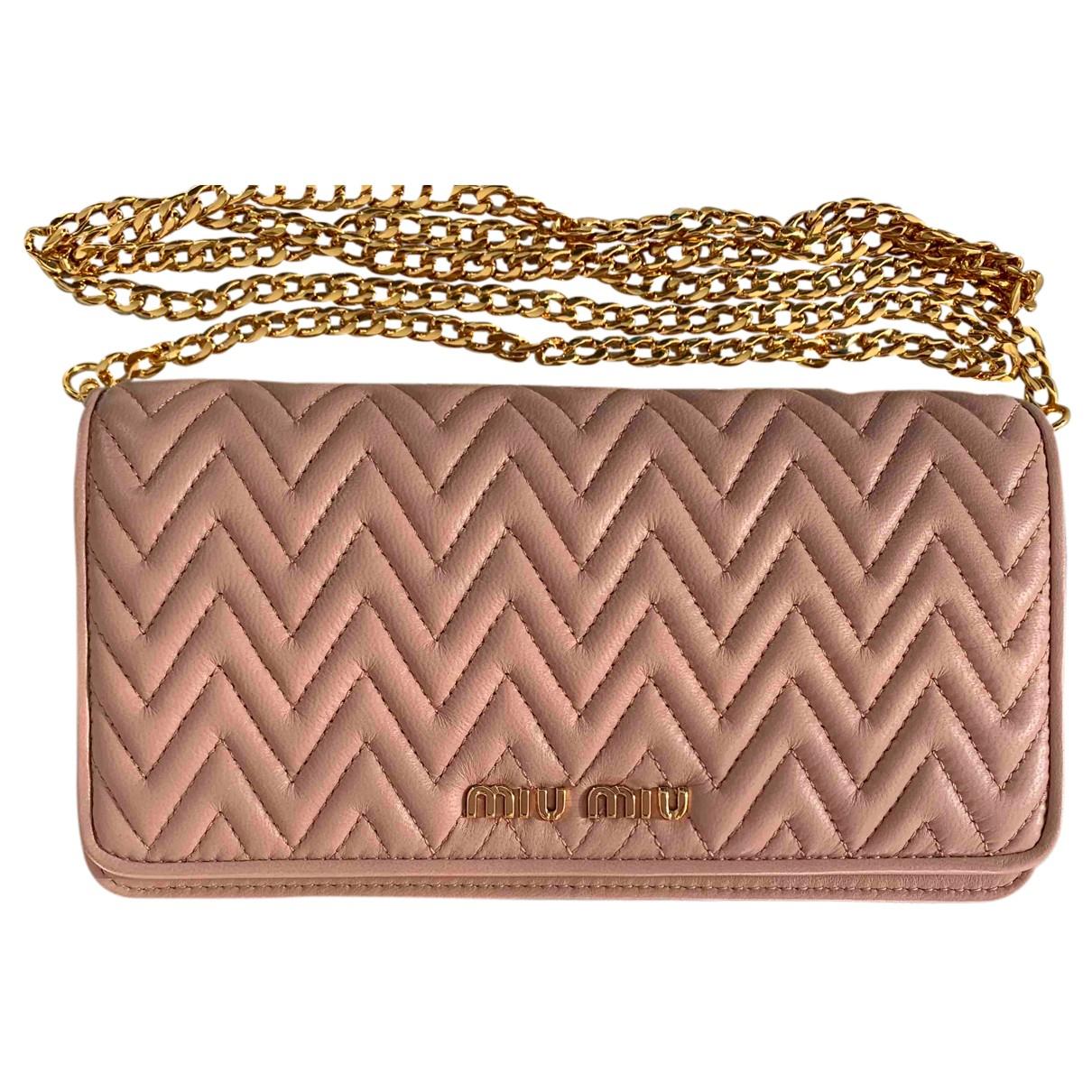 Miu Miu Miu delice Pink Leather handbag for Women N