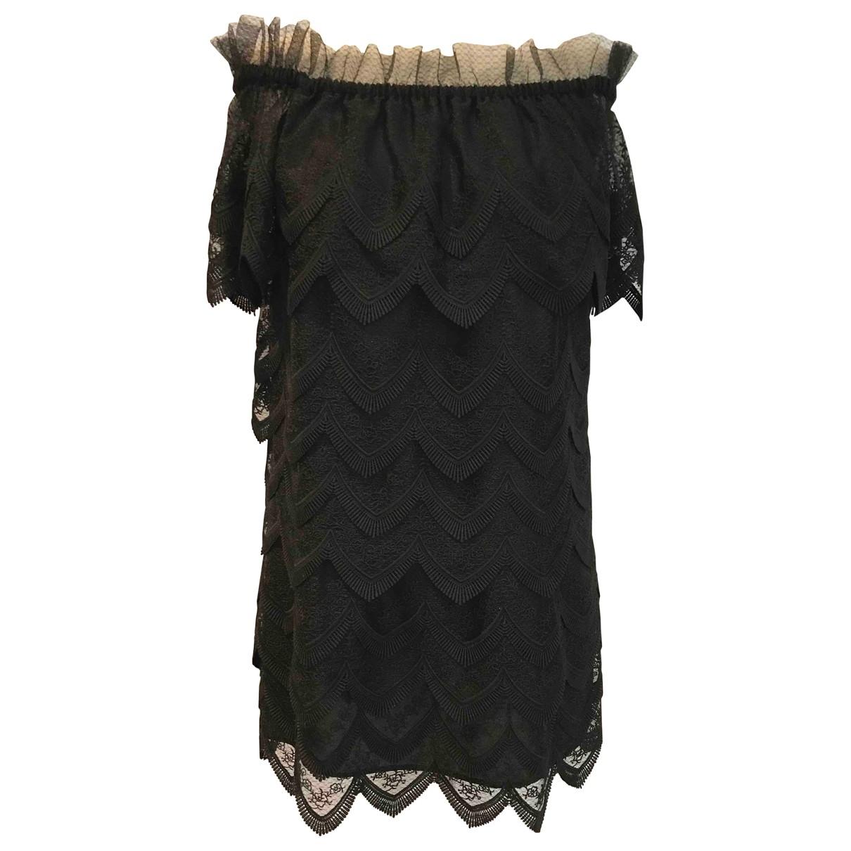 Alexis - Robe   pour femme en dentelle - noir
