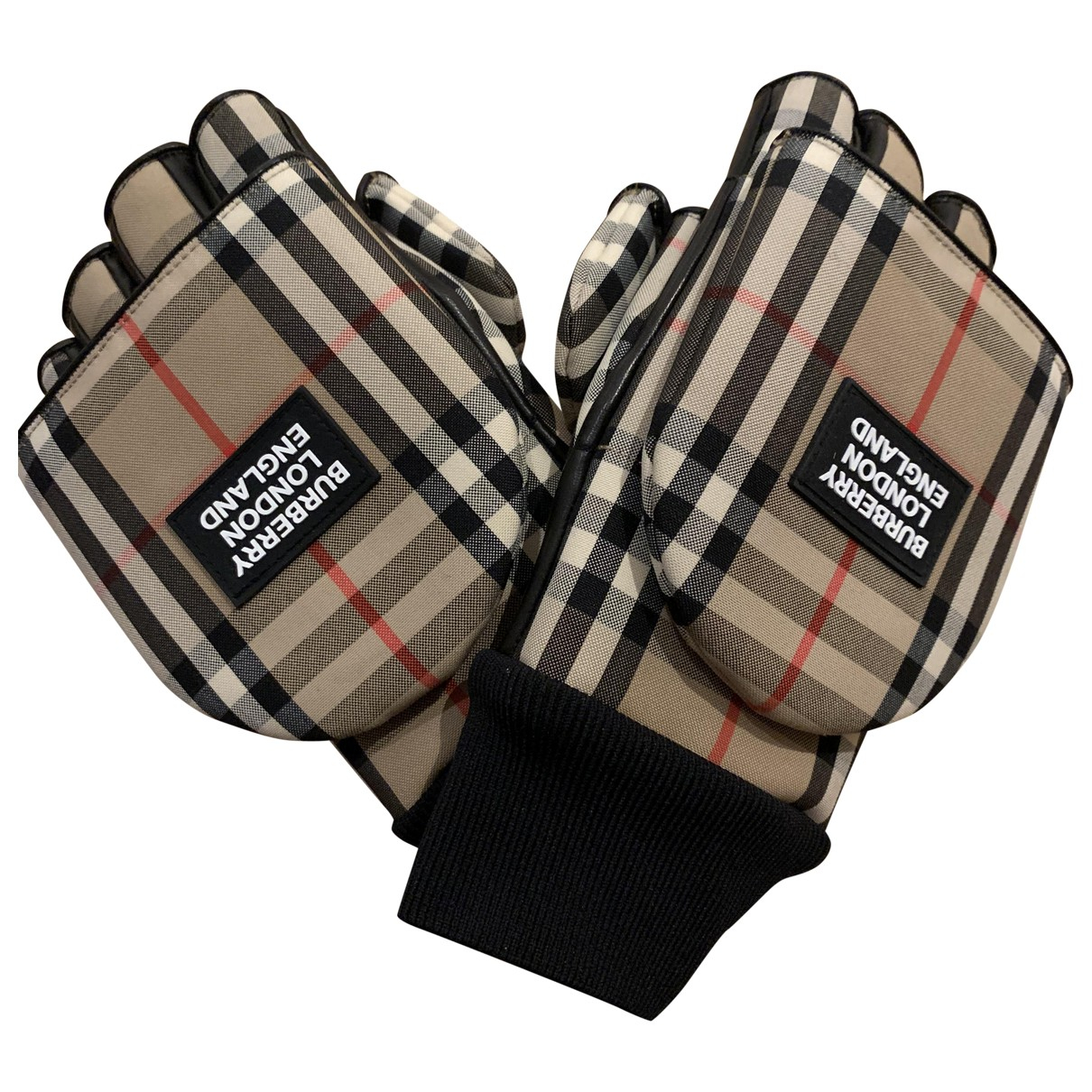 Burberry \N Beige Cotton Gloves for Men S International