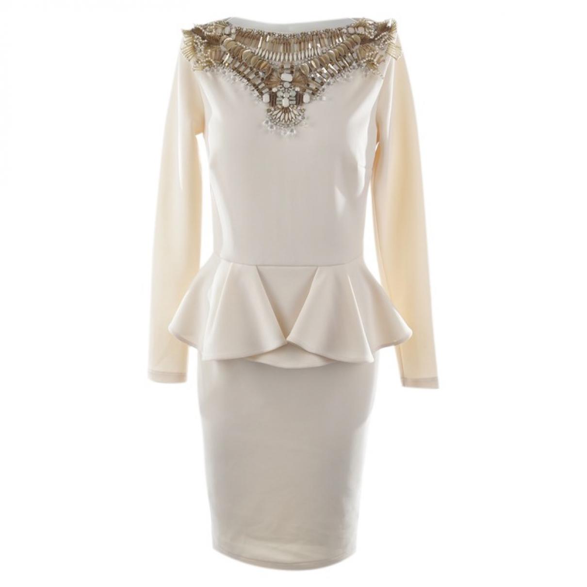 Elisabetta Franchi - Robe   pour femme - blanc