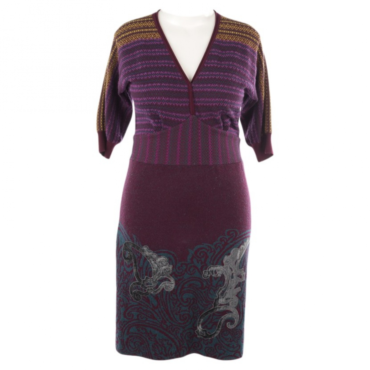 Etro \N Purple Cotton dress for Women 40 FR