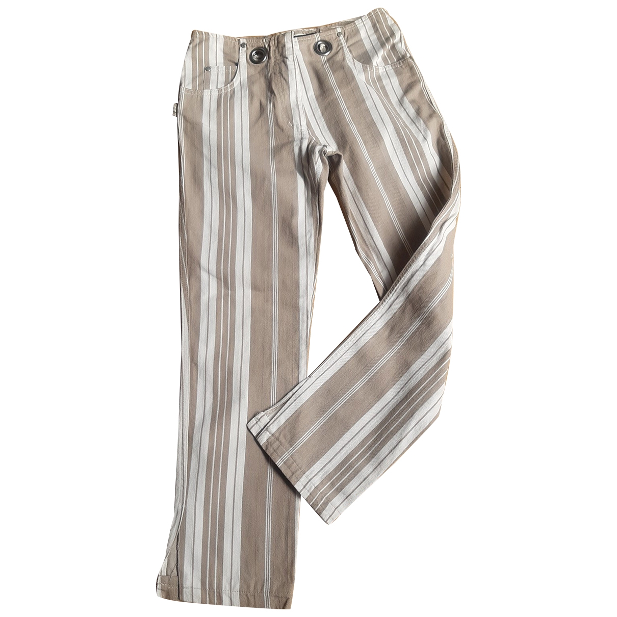 Jean Paul Gaultier \N Beige Cotton Trousers for Women 38 FR
