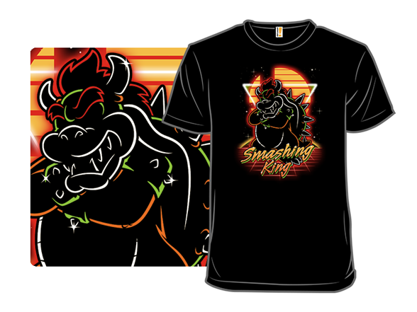 Retro Smashing King T Shirt