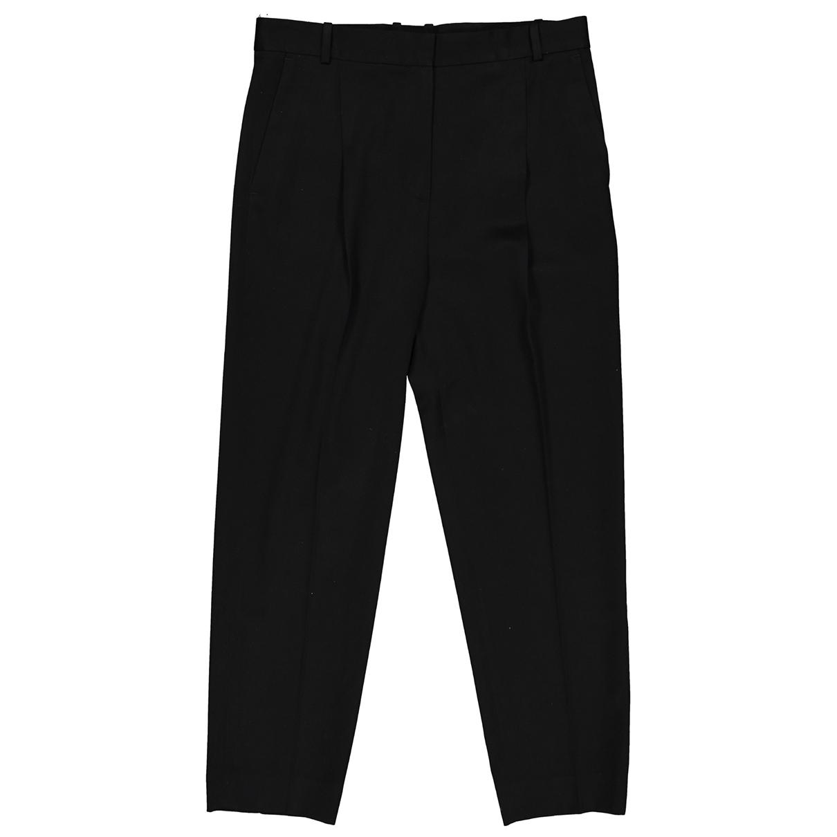 Celine \N Black Wool Trousers for Women 40 FR
