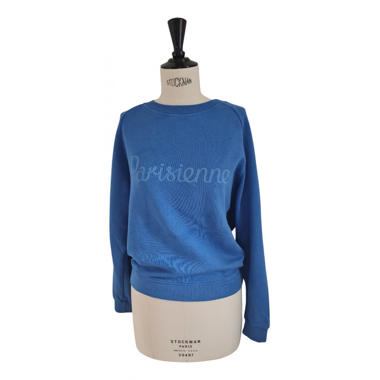 Maison Kitsune - Pull   pour femme en coton - bleu
