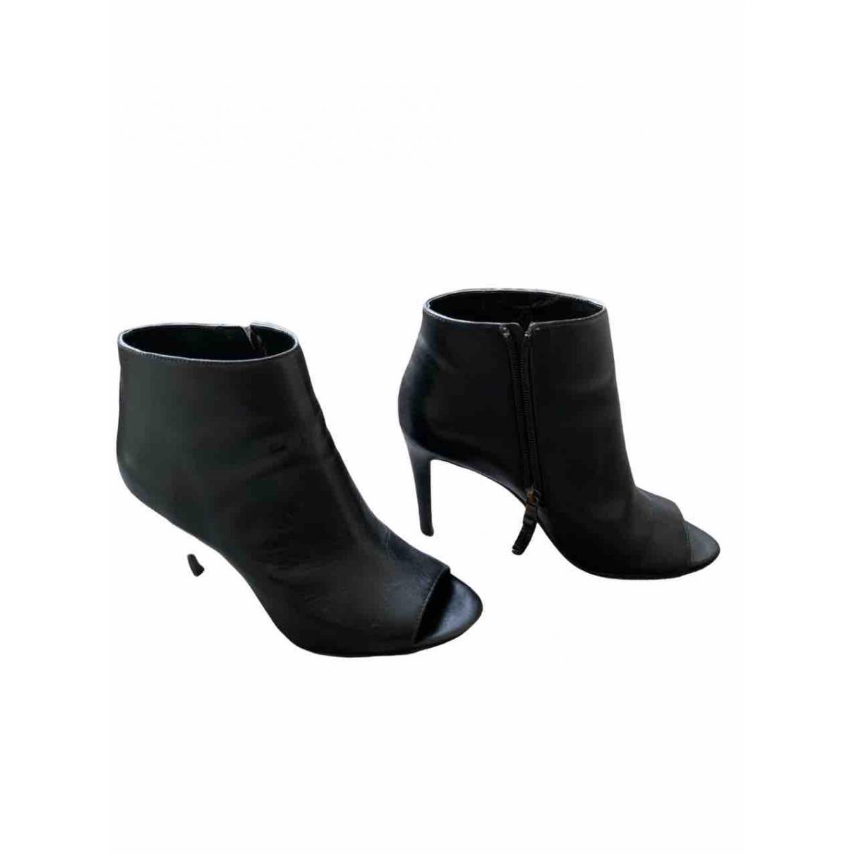 Lauren Ralph Lauren \N Black Leather Ankle boots for Women 8.5 US