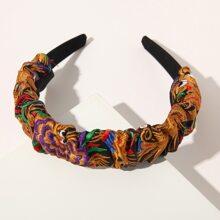 Flower Embroidery Hair Hoop