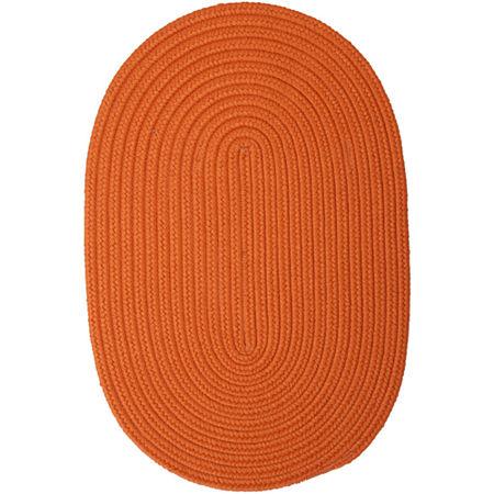 Colonial Mills Nantucket Reversible Braided Indoor/Outdoor Oval Rug, One Size , Orange