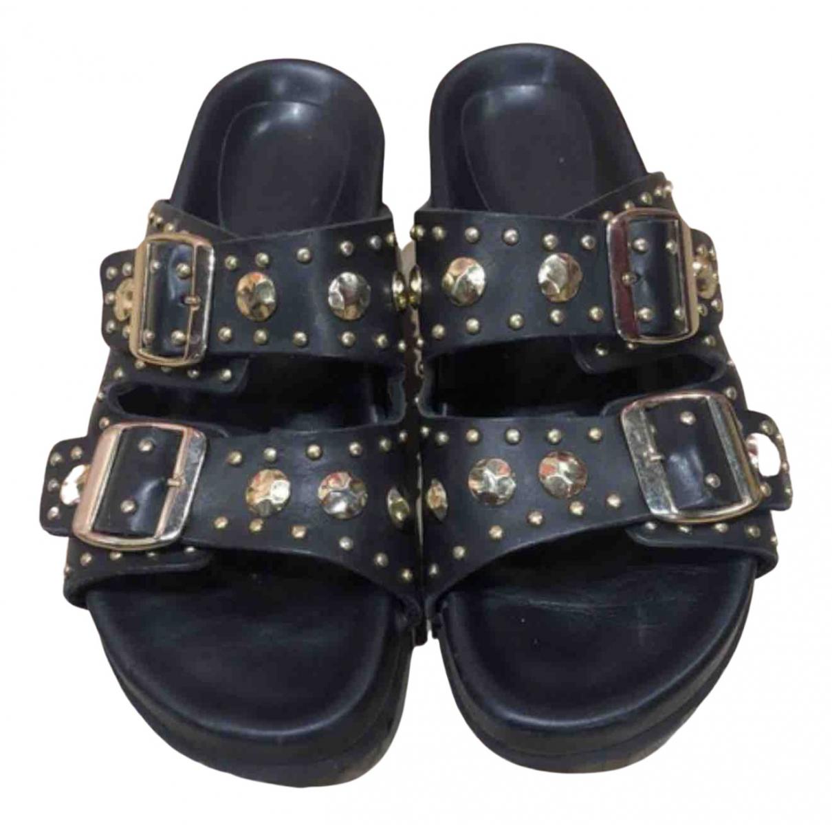 Maje \N Sandalen in  Schwarz Leder