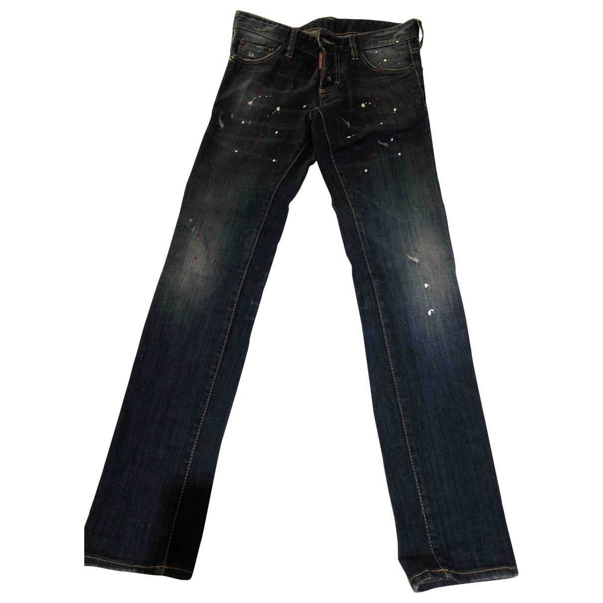Dsquared2 \N Navy Cotton Jeans for Men 40 FR