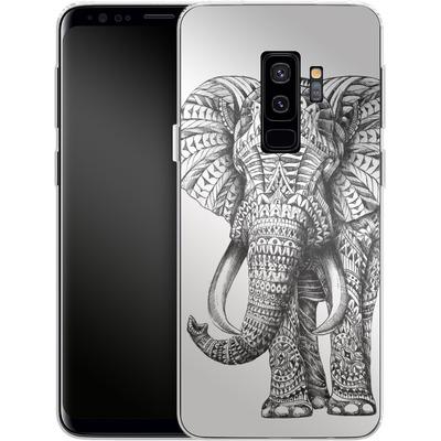 Samsung Galaxy S9 Plus Silikon Handyhuelle - Ornate Elephant von BIOWORKZ