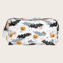 1 Stueck Make-up Tasche mit Halloween Muster