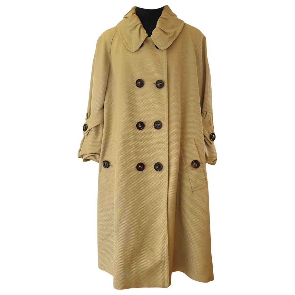 Burberry - Trench   pour femme en soie - beige