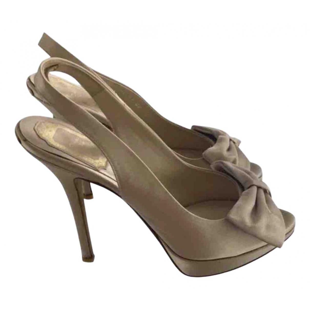 Dior \N Beige Cloth Heels for Women 36.5 IT