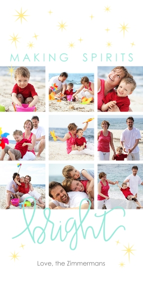 Holiday Photo Cards Flat Matte Photo Paper Cards with Envelopes, 4x8, Card & Stationery -Spirits Bright