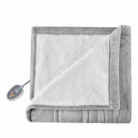 True North Reversible Ultra Soft Plush Electric Blanket, One Size , Gray