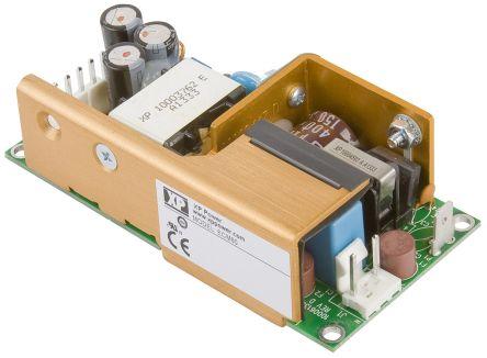 XP Power , 60W AC-DC Converter, 3.3 V dc, 5 V dc, Open Frame, Medical Approved