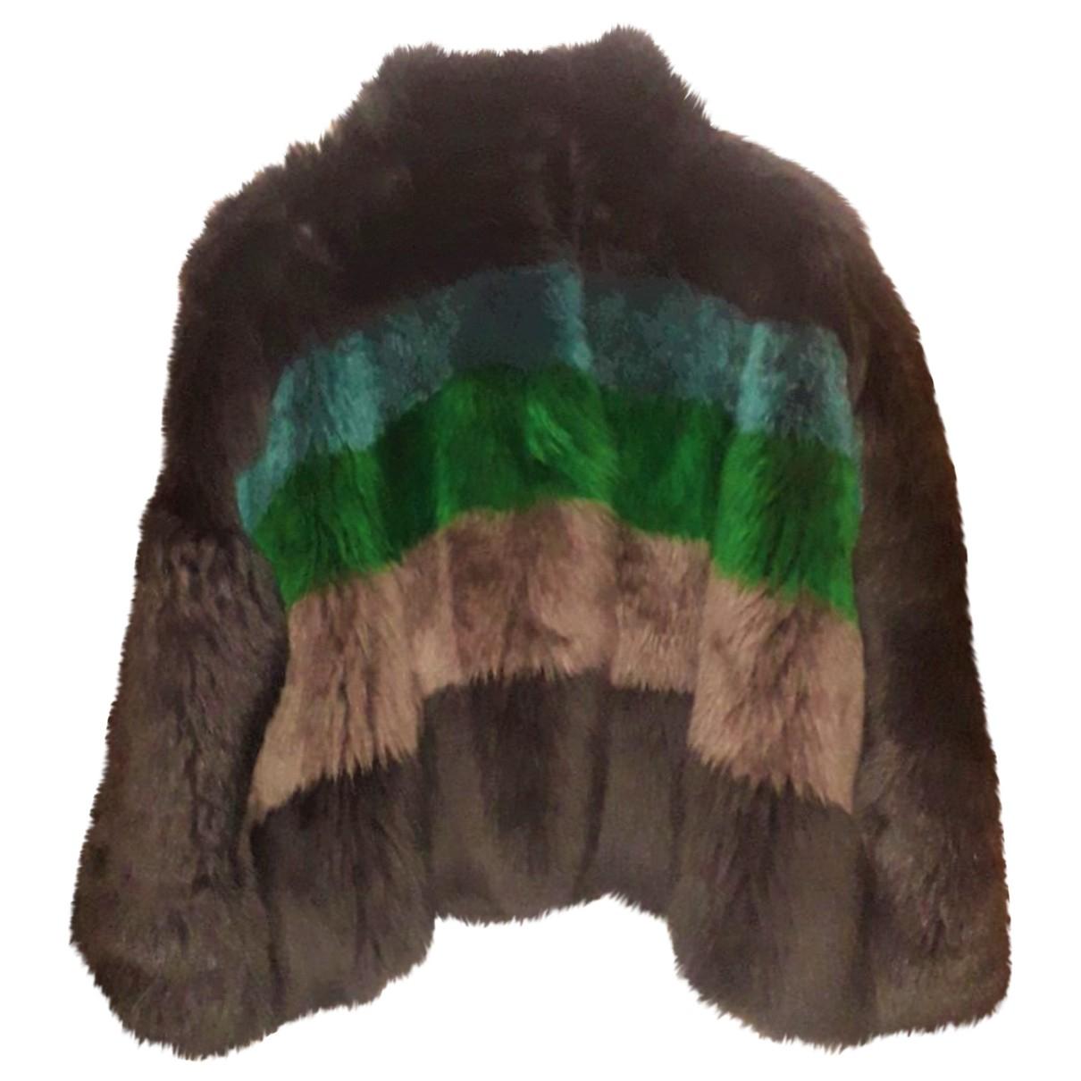 Emporio Armani - Manteau   pour femme en cuir