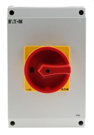 Eaton 6 Pole Enclosed Non Fused Isolator Switch - 63 A Maximum Current, 22 kW Power Rating, IP65