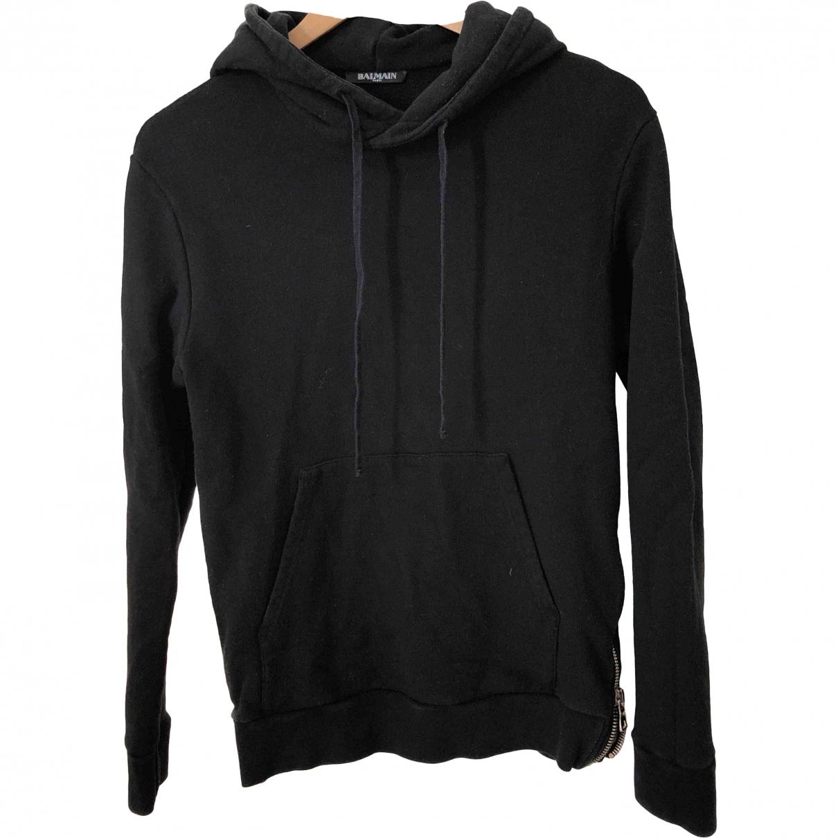 Balmain \N Black Cotton Knitwear & Sweatshirts for Men XS International