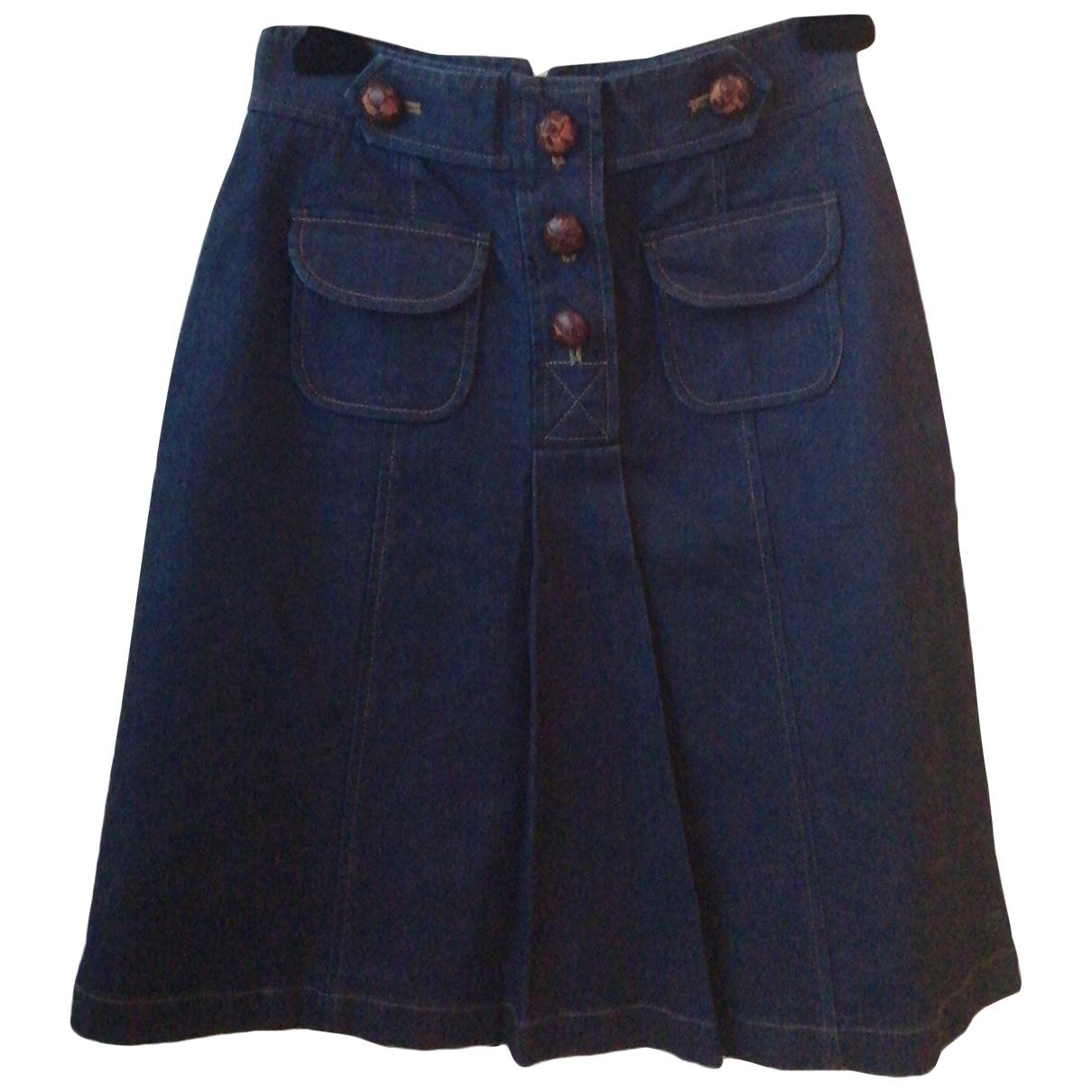 Tibi \N Rocke in  Blau Denim - Jeans