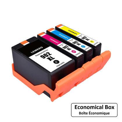 Compatible HP 902XL cartouche d'encre combo haute capacite BK/C/M/Y - boite economique