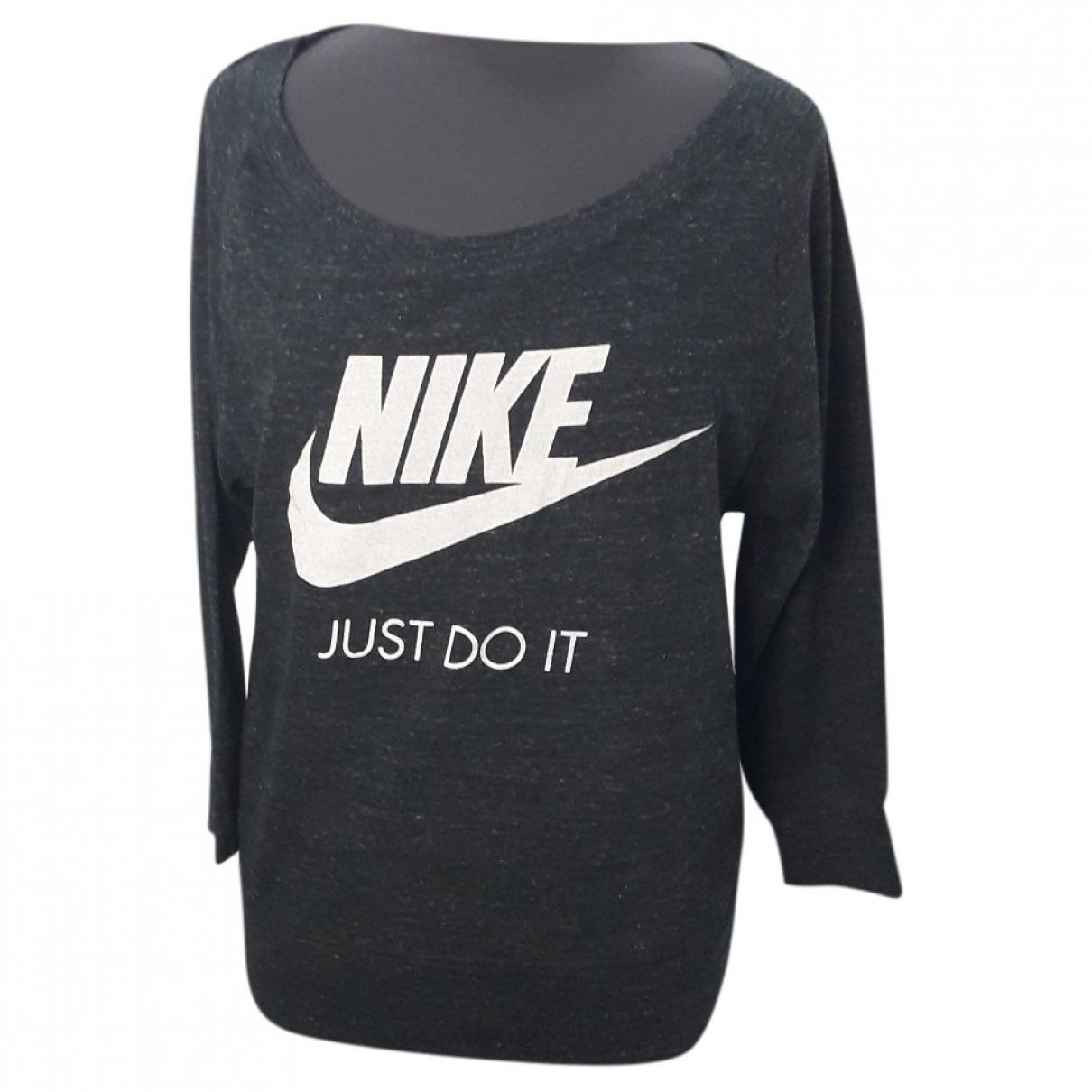 Nike \N Top in  Grau Baumwolle